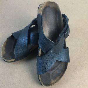 Birkenstock Birki's Black 'Santosa' Sandal 38 US 8
